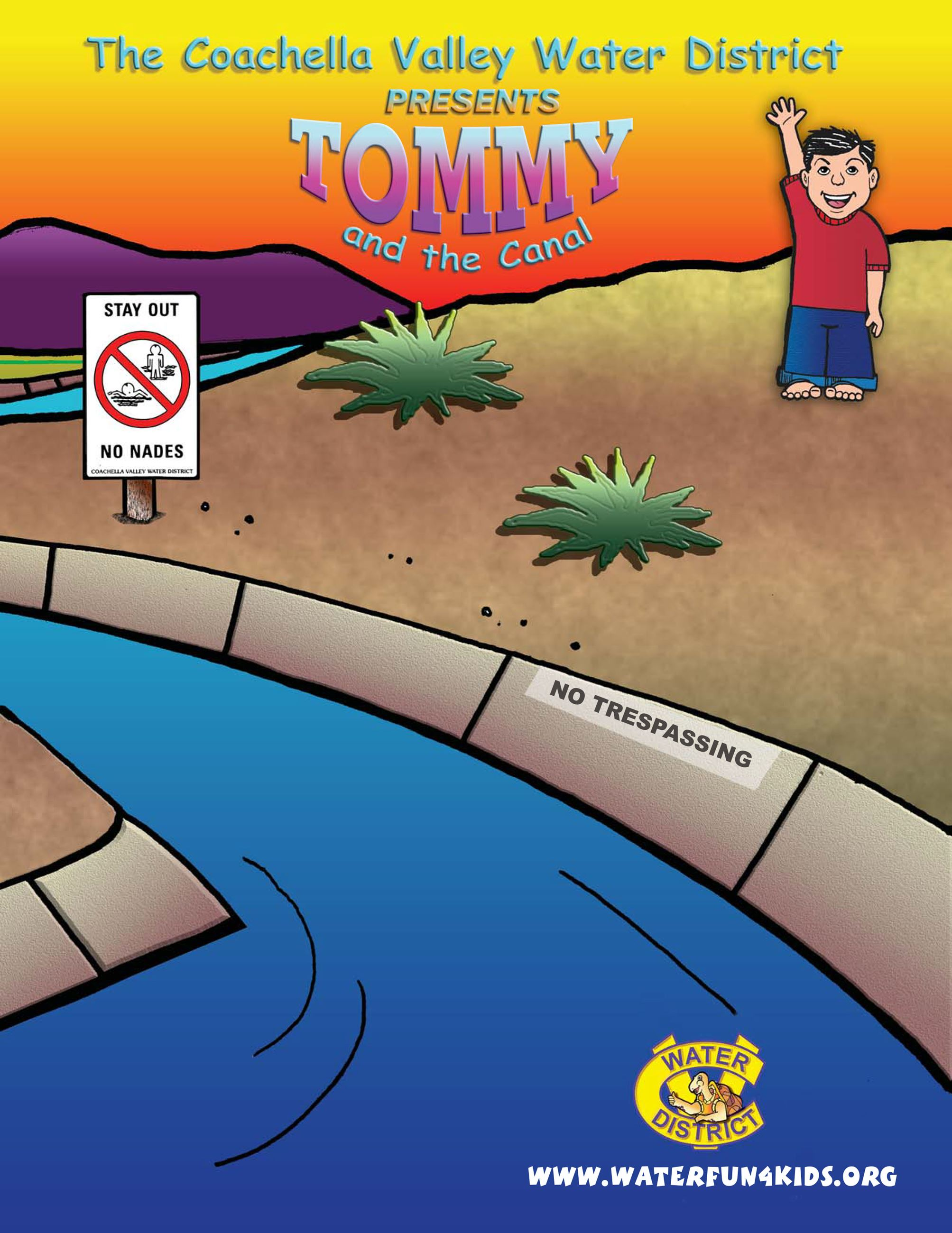 Tommy & the canal children's activity book front cover