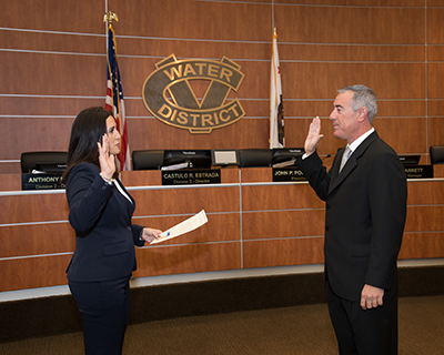 Director Anthony Bianco is sworn in