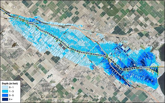 Flood Maps for eastern Coachella Valley