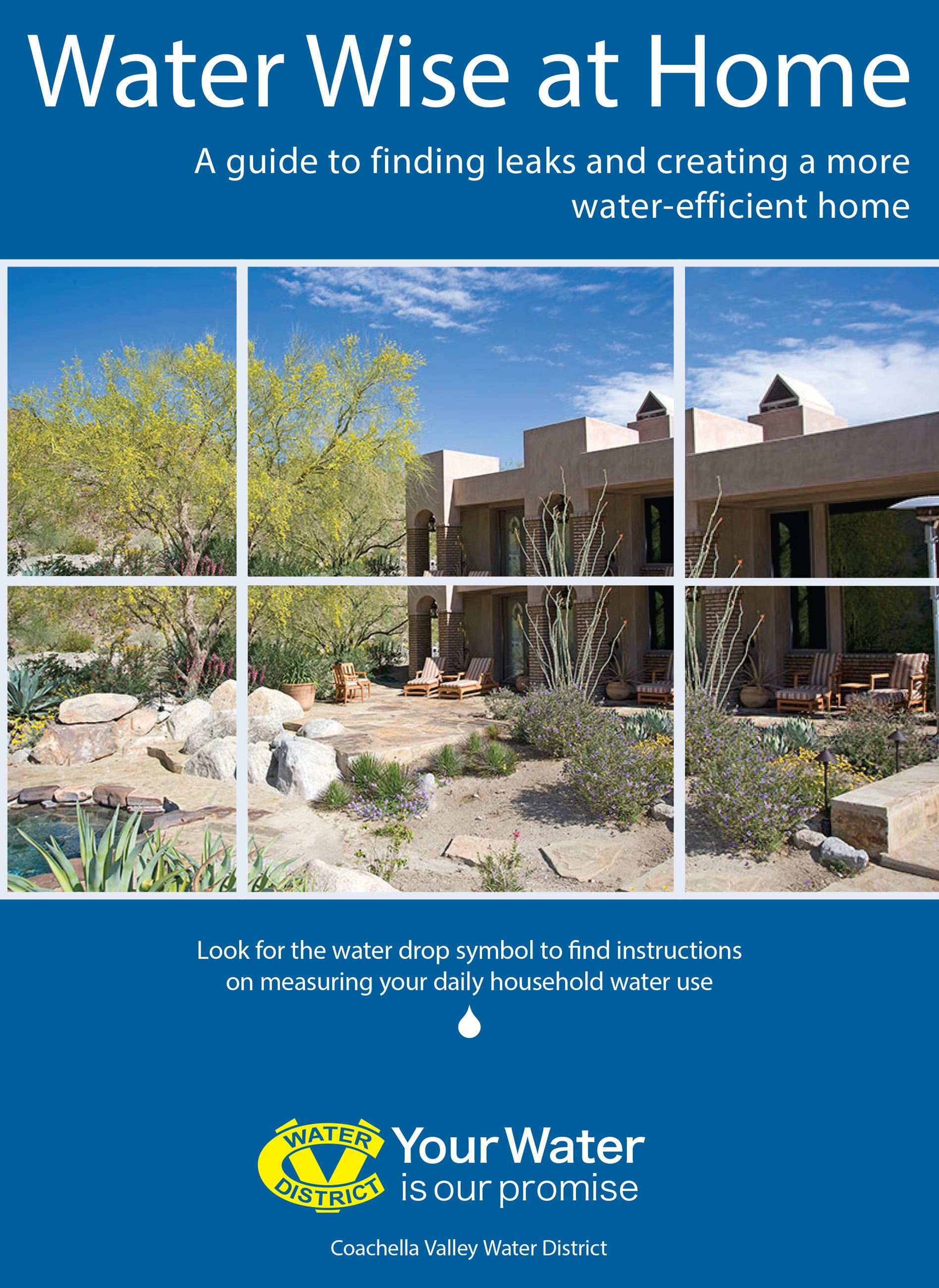 Water Wise At Home A guide to finding leaks brochure cover Opens in new window